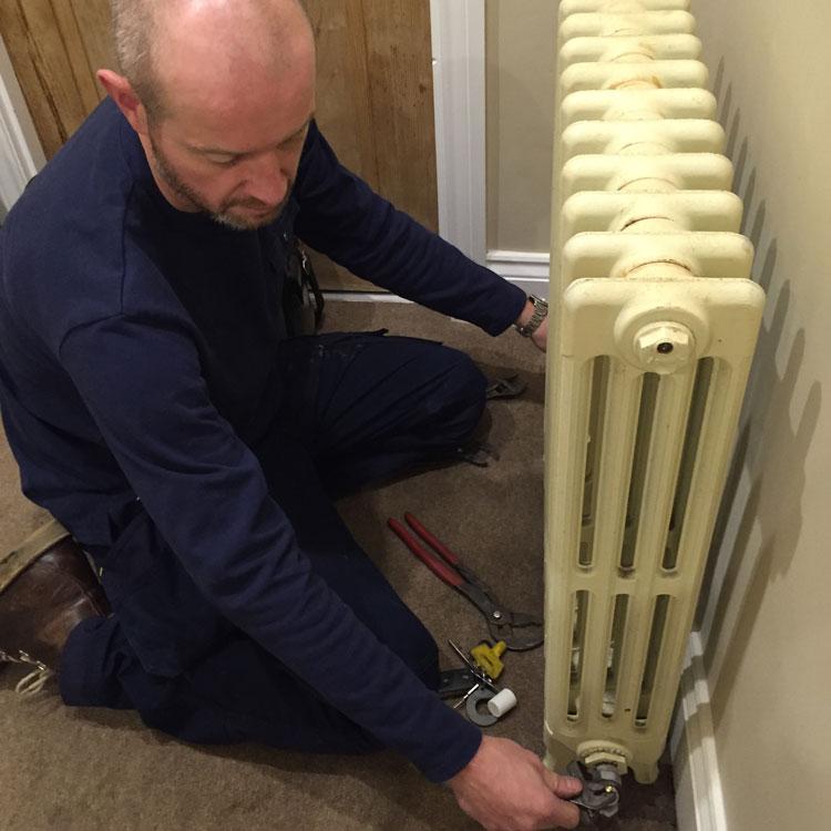 Matthew Scanlon Plumbing and Heating fitting radiator